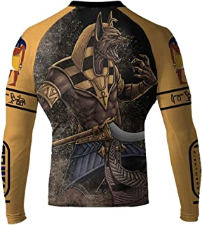 Raven Fightwear Men's Anubis MMA BJJ Long Sleeve Rash Guard