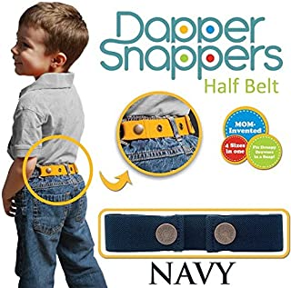 Dapper Snapper Made in USA Baby & Toddler Adjustable Belt-Navy
