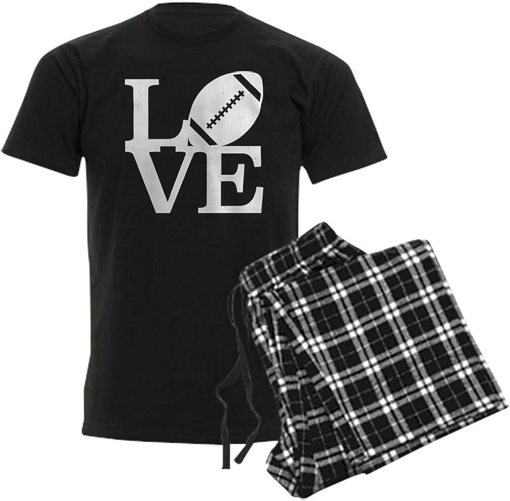 Max 67% OFF CafePress Love Football Pajama 67% OFF of fixed price Set