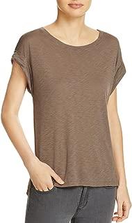Womens Roll Up Cap Sleeve T-Shirt