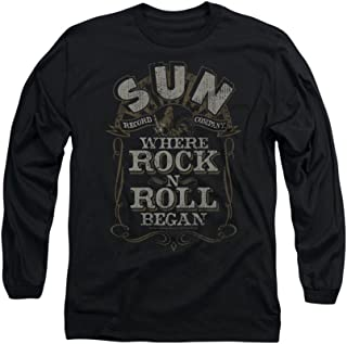 Sun Records Where Rock N Roll Began Adult Long-Sleeve T-Shirt