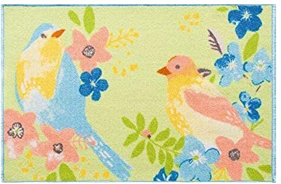 """Blossoms & Blooms Easter Spring Printed Accent Rug 20"""" X 30"""" 20""""X 30"""" Birds"""