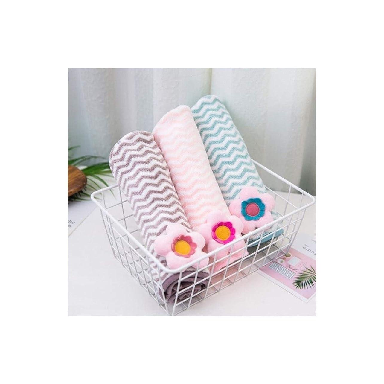 岸屈辱する恐れるLBLMS シャワーキャップ、増粘剤、速乾性キャップ、シャンプー、リンス、タオル、シャワーキャップ、ピンク (Color : Pink blue gray)