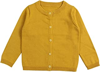 Wennikids Baby Girls' Little Knit Cardigan Button Sweater for 12M-6T