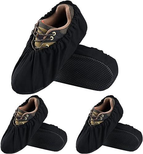 Soumit 3 paires Couvre-Chaussures Poussière pour Maison L (EU 44-48), Surchaussures Réutilisable pour Bureau et Ateli...