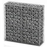 SOULONG Cesta de piedra, gavión con tapa, alambre galvanizado, protección visual 100 x 30 x 100 cm (largo x ancho x alto)