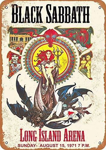 NOT Black Sabath Long Island Arena Interessante Poster Einzigartige Wanddekoration Vintage Style Blechschilder Retro Eisen Malerei Für Pub Garage Bar Spielzimmer