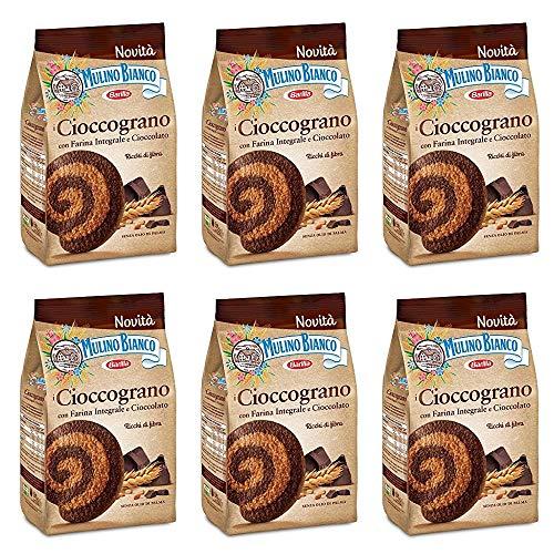 6x Mulino Bianco Cioccograno Vollkorn kekse mit schokolade 350g biscuits kuchen
