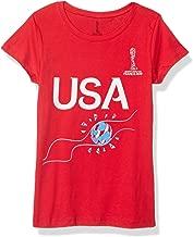 FIFA WWC France 2019 Football Flame Youth Girl's Tee Shirt