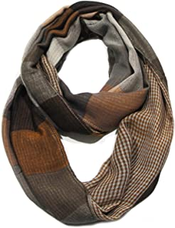Premium Color Block Multi Pattern Infinity Scarf