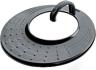 Lacor - 71931 - Tapa Aluminio Antisalpicaduras Universal de 20-24-26-28 cm - Negro