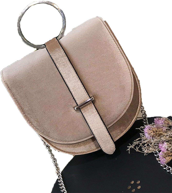 Frauen Samt Messenger Bags Ring Griff Griff Griff Mini Handtaschen Fashion Kette Umhngetasche B07F2BY7C4  Hohe Qualität und Wirtschaftlichkeit 8bf461