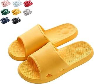 Shower Sandal Slippers, Summer Home Non-Slip Soft Bottom Home Quick Drying Bathroom for Women Men Suitable for Bathroom/Indoor Bedroom/Living Room/SPA,Yellow,38/39