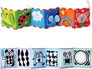 TOYANDONA Animal Puzzle Toys Baby Pram Carriage Crib Stroller Cloth Books Crib Bumper Crinkle for Babies Early Development...