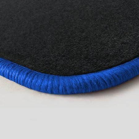 Randfarbe Nach Wahl Passgenaue Fußmatten Aus Nadelfilz Graphit Mit Royalblauem Rand 204 Auto