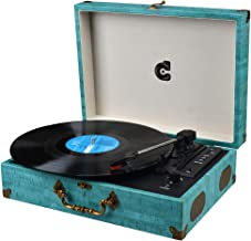 Vinyl Player Turntable Record Player with Speaker LP Turntable Vintage Record Players Suitable Turntable Portable Wireless Record Player Support USB Phonograph with AUX RCA Headphone Jack