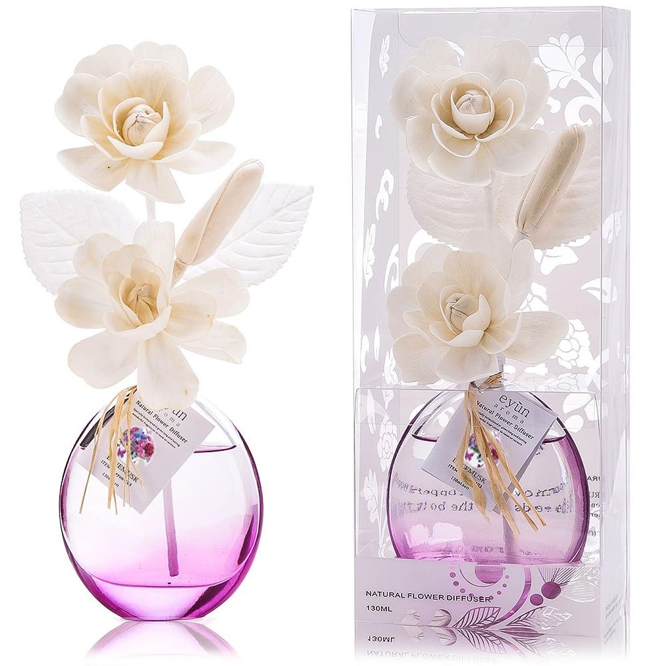 メロディアス宙返り旋律的誕生日 プレゼント に A03 ルームフレグランス (花瓶:紫、香り:ブルー ムスク)
