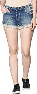 DJ & C by FBB Denim Shorts with Lace Hem