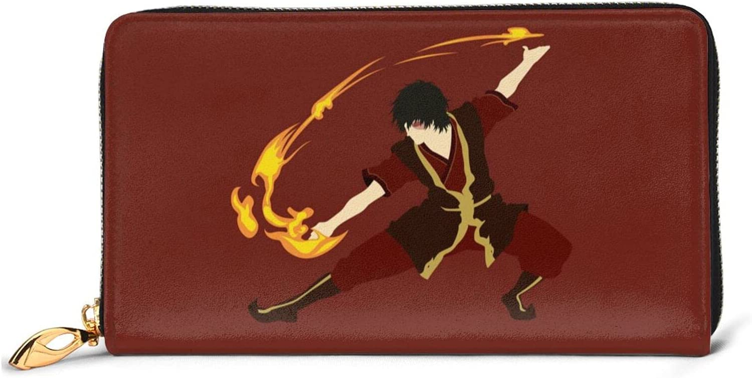 Anime Avatar The Last Selling Opening large release sale and selling Airbender Zuko Fa Men Wallet Leather Women