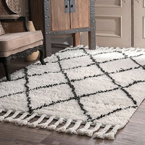 nuLOOM Venice Moroccan Shag Rug, 5' x 8', Natural