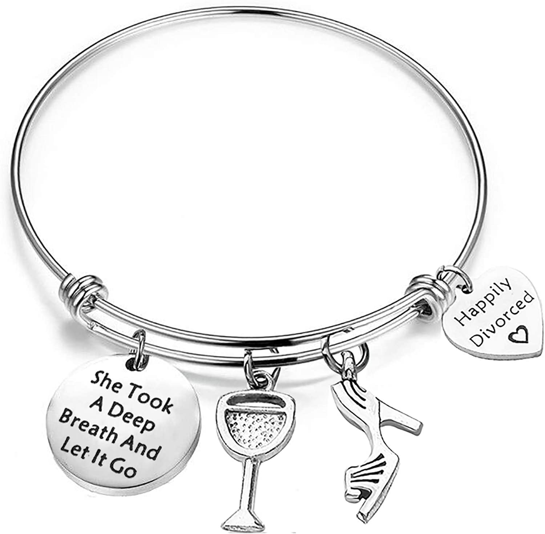 Women/'s Jewelry Encouragement Bracelet Feminist Jewelry Gift for Her Personalized Gift Gift for Feminist Strong Women Charm Bracelet