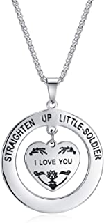 Lateefah Daughters Birthday Gift Sweet Daughter I Love You Necklace Stainless Steel Heart Pendant Necklace