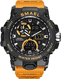 MeterMall Gifts for Boys,SMAEL Men Waterproof Multifunction Dual Display Calendar Noctilucence Electronic Watch for Outoor...