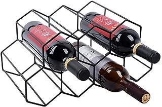 white metal wine rack