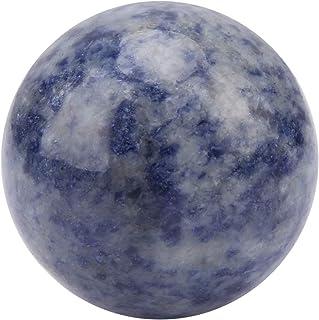 Bola de cristal, bola de curación de cristal clara rosa/azul/roja para la meditación Adorno de esfera de cristal para hoga...