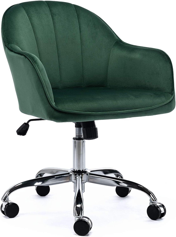 FCQuality Velvet Home Office 新着 Desk 大規模セール Swivel Height Chair Adjustable