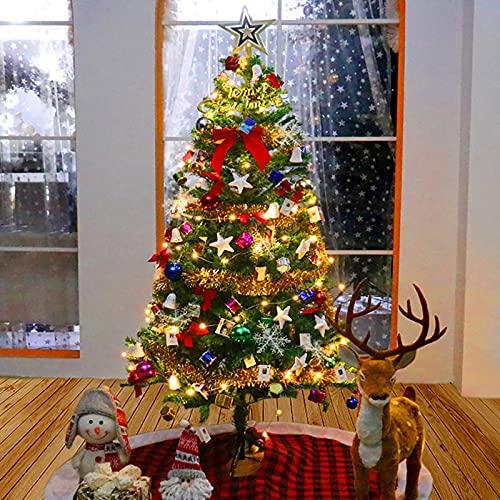 Árbol de Navidad de Pino con Adornos Decoración navideña,Árbol de Navidad con...