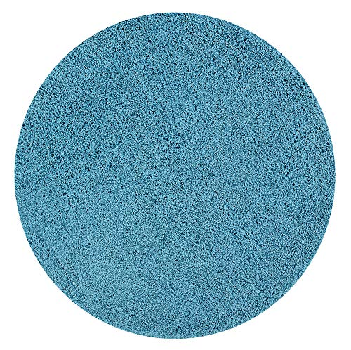 Better Trends Micro Collection is Ultra Soft Plush and Absorbent Tufted Bath Mat Rug 100 Percent Polyester in Vibrant Colors, 30' Round, Teal