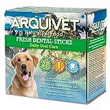 Arquivet Dental Sticks Sabor Menta - Snacks dentales para Perros - Productos higiene Dental Canina - Snacks Naturales - Chuches y golosinas para Perros - Dientes sanos Perros - Caja 28 uds.
