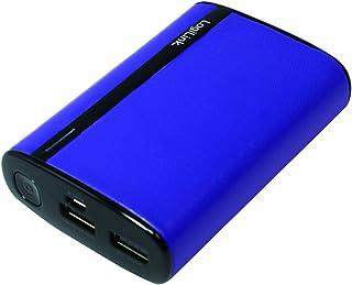 LogiLink, läder look mobil extra batteri (7800 mAh), VIOLETT