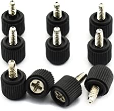 DZS Elec 10pcs #6-32 Black Thumb Screws Nickle Plated Carbon Steel Philips PC Computer Case Fastener Thumb Screws