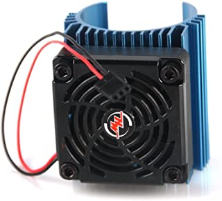 Hobbywing Ezrun 5V C4 Cooling Fan & 44 x 65mm Motor Heat Sink System RC Motor Fan For 1/8 Car#86080130 Blue,Get funshobby decal