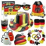 int!rend - Fanartikel Deutschland Set, 23 Stück, Fanset für Sportereignisse wie Fußball, Handball, Basketball, Olympia Fan Artikel