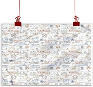 Canvas Prints Wall Art Travel,Sunlounger Terrace Santorini for Bedroom Living Room Kitchen Bathroom Artwork