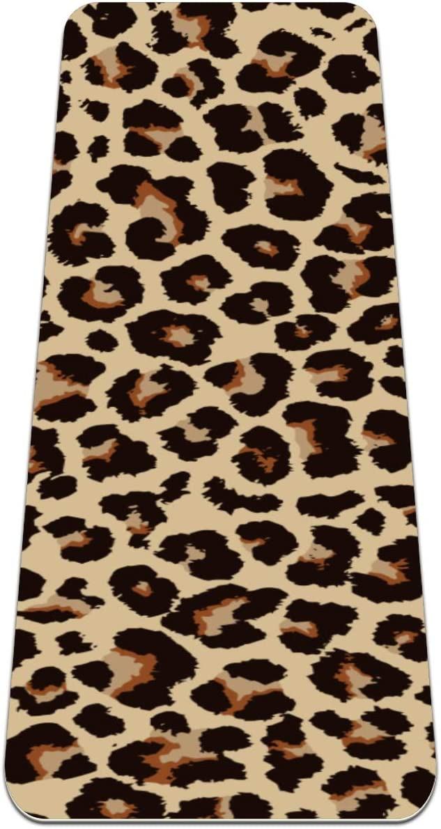 Leopard Pattern Design Yoga Financial sales sale Mat and for Pilates Exercise Outlet ☆ Free Shipping