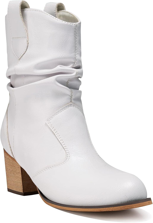 ◆在庫限り◆ HISEA Cowgirl Boots Women Western 並行輸入品 Ca with Tabs Pull-Up Mid