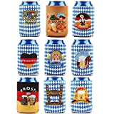 Oktoberfest Can Cooler Sleeves Party Favors - Bavarian Festival of Beer Can Cooler Covers Party Decoration Supplies,Oktoberfest Ideas