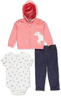 Carter's 3-Piece Unicorn Little Jacket Set (6 Months) Pink