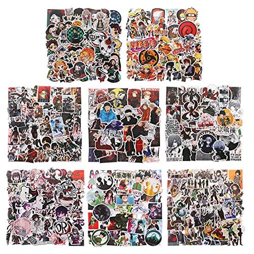 400PCS Anime Sticker Set, Beliebte Klassische Anime-Aufkleber-Packs für Wasserflaschen Laptop-Skateboard-Notebook-Aufkleber, wasserdichte Vinyl-Auto-Aufkleber für Erwachsene Kinder Teens