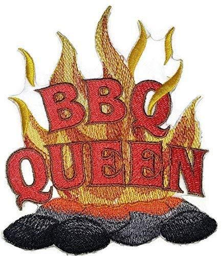 BeyondVision Lets go Outback voor barbecueschort geborduurd ijzer naaipatches 5 x 6 grijs, zwart, rood