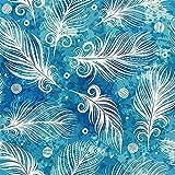 WEISSE FEDERN/blau, Bio Single Jersey mit elastan, 155 cm