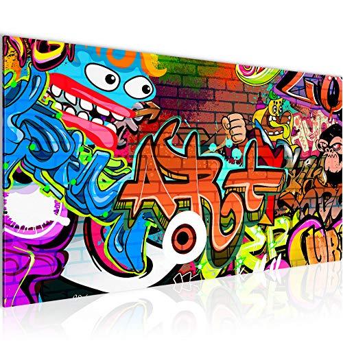 Wandbilder Graffiti Modern Vlies Leinwand Wohnzimmer Flur Street Art Bunt 402112a