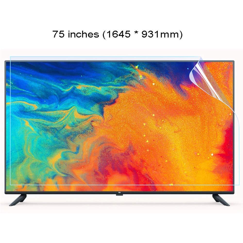 WTTO 75 Pulgadas Protector De Pantalla De TV, Antiazul Alivia La Fatiga Ocular TV Protección de Pantalla Antiarañazos Filtro para LCD/LED y Plasma HDTV televisor,Ultra-Clear: Amazon.es: Hogar