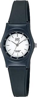 Q&Q Women's White Dial Resin Band Watch - VQ05J002Y - Black