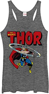Marvel Women's Mighty Thor Hammer Swing Racerback Tank Top