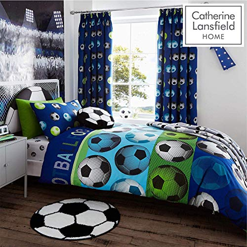 Catherine Lansfield Kids Football Duvet Cover Set, Blue, Single